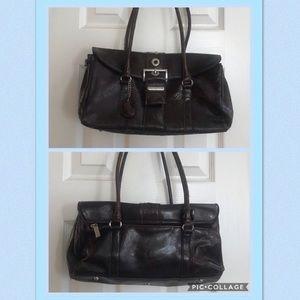 Rina Rich Leather Handbag